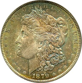 Image of 1879 $1 NGC/CAC MS66
