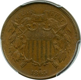 Image of 1865 2c PCGS AU55