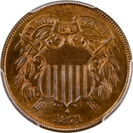 Image of 1871 2c PCGS/CAC Proof 65 RB