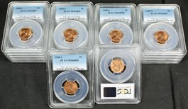 Image of Investor Lot of 1948-S 1c: All PCGS MS66 RD (20 Coins)