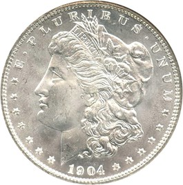 Image of 1904-O $1 NGC/CAC MS66