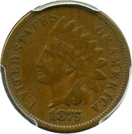 Image of 1875 1c PCGS F15