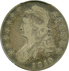 Image of 1819 50c PCGS VF20