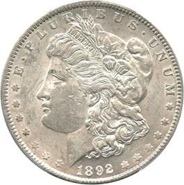 Image of 1892 $1 PCGS AU58