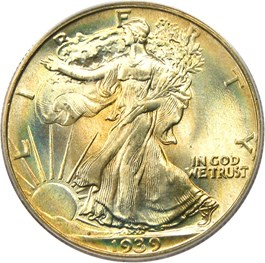 Image of 1939 50c PCGS/CAC MS68