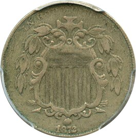 Image of 1872 5c PCGS VF35