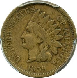 Image of 1859 1c PCGS F12