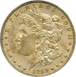 Image of 1893 $1 PCGS XF45