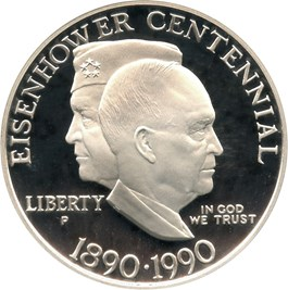 Image of 1990-P Eisenhower $1 PCGS Proof 69 DCAM