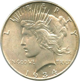 Image of 1934 $1 PCGS MS65