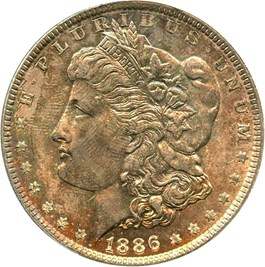 Image of 1886 $1 PCGS MS65
