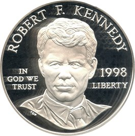 Image of 1998-S Robert F. Kennedy $1 PCGS Proof 69 DCAM