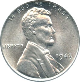 Image of 1943 1c PCGS MS67