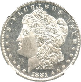 Image of 1881-O $1 NGC/CAC MS63 PL