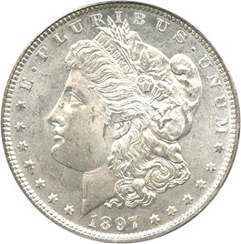 Image of 1897 $1 PCGS MS64 PL (OGH)