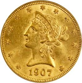 Image of 1907 Liberty $10 PCGS MS61