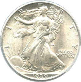 Image of 1939 50c PCGS MS63