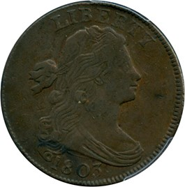 Image of 1803 1c PCGS/CAC XF40 (Small Date, Small Fraction)
