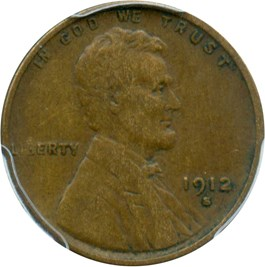 Image of 1912-S 1c PCGS VF35