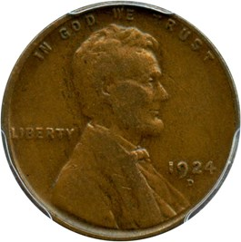 Image of 1924-D 1c PCGS VF30