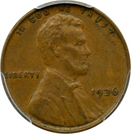 Image of 1936 1c PCGS/CAC XF45 (Doubled Die Obverse, Type 1)