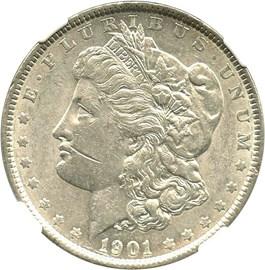 Image of 1901 $1 NGC AU50