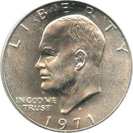 Image of 1971-S $1 PCGS MS64 (Silver, Peg Leg, FS-401)