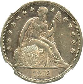 Image of 1872 $1 NGC XF45