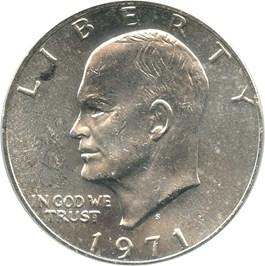 Image of 1971-S $1 PCGS MS63 (Silver, Peg Leg, FS-401)