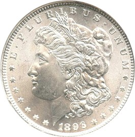 Image of 1896 $1 NGC/CAC MS66