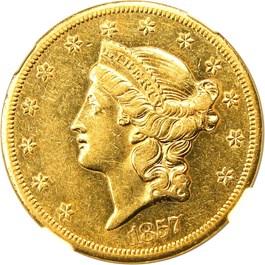 Image of 1857-S $20 NGC AU53