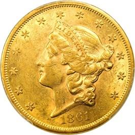 Image of 1861 $20 PCGS AU58