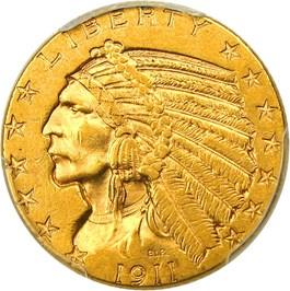 Image of 1911-D $5 PCGS/CAC AU58+