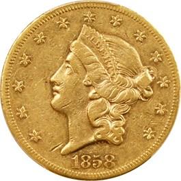 Image of 1858-S $20 PCGS XF45