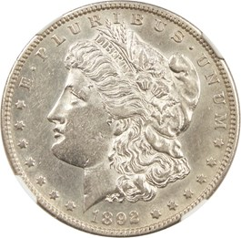 Image of 1892-S $1 NGC AU53