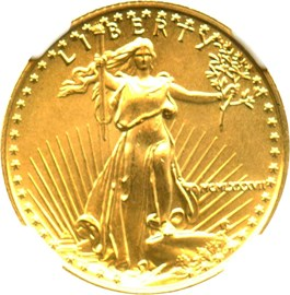 Image of 1987 Gold Eagle $10 NGC MS69