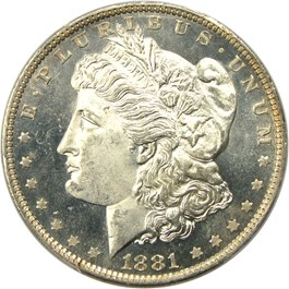 Image of 1881-O $1 PCGS MS65 DMPL