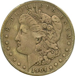 Image of 1904-S $1 PCGS VF25