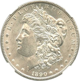 Image of 1890-CC $1 NGC/CAC MS63