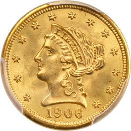 Image of 1906 $2 1/2 PCGS/CAC MS64