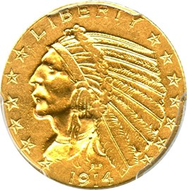 Image of 1914-S $5 PCGS AU53