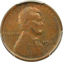 Image of 1922 no D 1c PCGS/CAC MS64 BN (Strong Reverse, Die Pair #2)