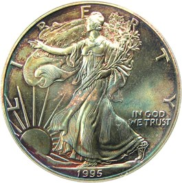 Image of 1995 Silver Eagle $1 PCGS MS68 - No Reserve!