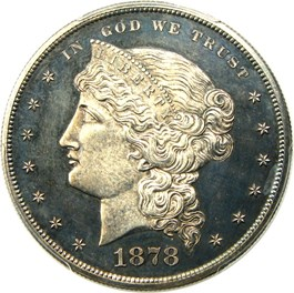 Image of 1878 Pattern $1 PCGS Proof 64 CAM (J-1554)