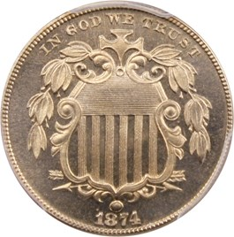 Image of 1874 5c PCGS Proof 66 CAM