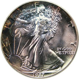 Image of 1987 Silver Eagle $1 PCGS MS67 - No Reserve!