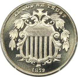 Image of 1879 5c PCGS Proof 67 CAM