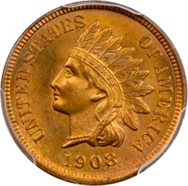 Image of 1908 1c PCGS/CAC MS66 RD