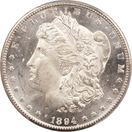Image of 1894-S $1 PCGS/CAC MS64