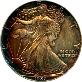 Image of 1987 Silver Eagle $1 PCGS MS68 - No Reserve!